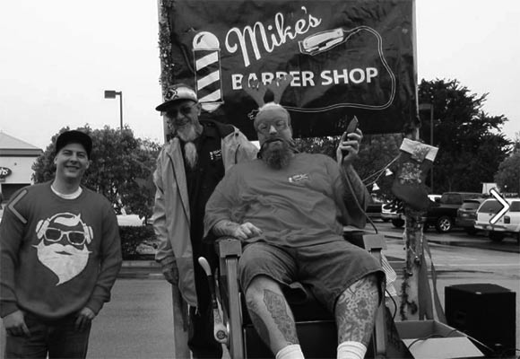 Mike's Barber Shop at the Los Osos Christmas Parade 2016