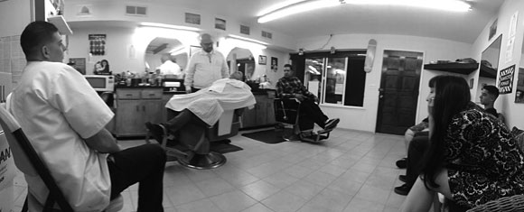 Shave Clinic at Tiny Mike's Barber, Morro Bay, CA